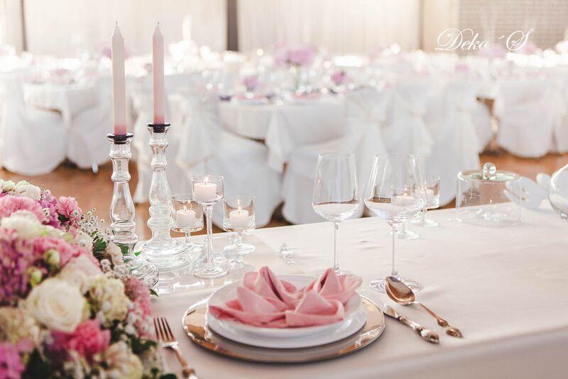 Makellose Eleganz In Rosa Grau Deko S Hochzeitsdekoration Und